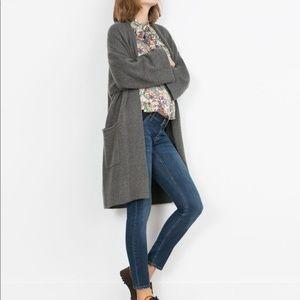 Zara Skinny Mum Fit Blue Jeans Denim  Maternity L